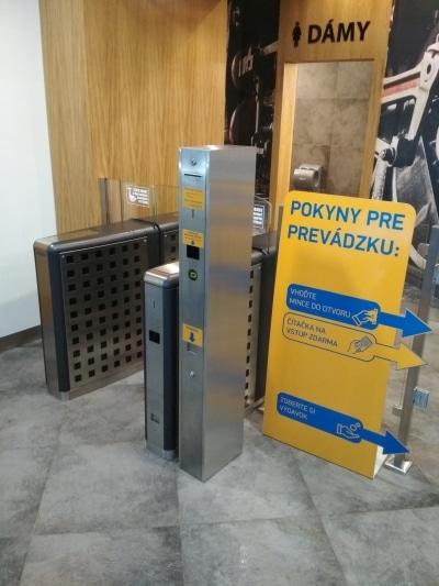 platební automat na mince turniket