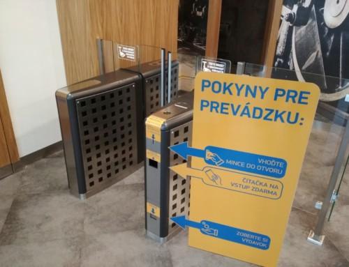 Platební automat – turniket na mince